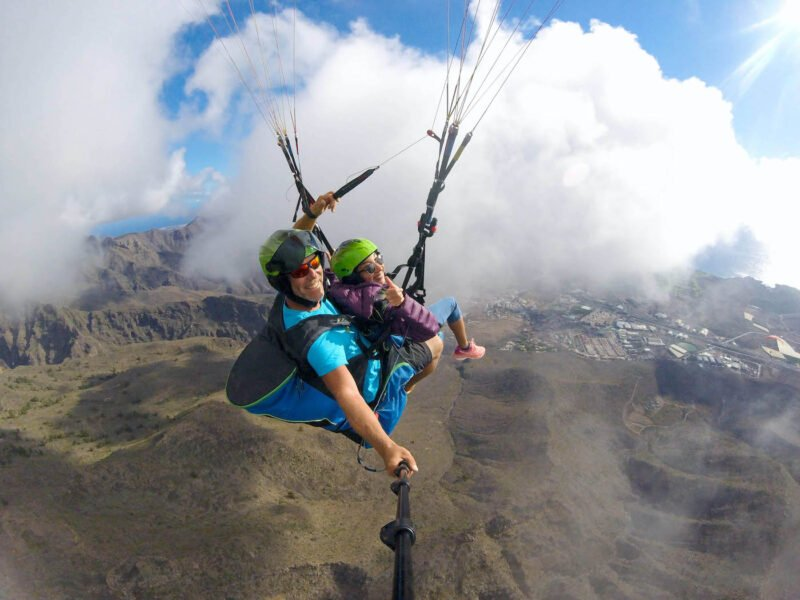 Acrobatic Paragliding Flight In Tenerife_3