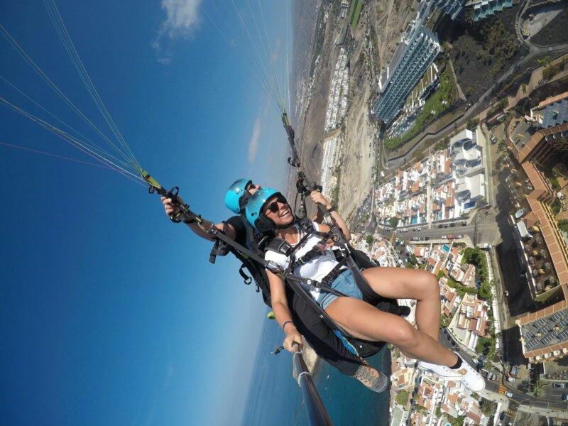 Performance Paragliding Flight In Tenerife