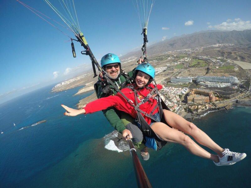 Acrobatic Paragliding Flight In Tenerife_1